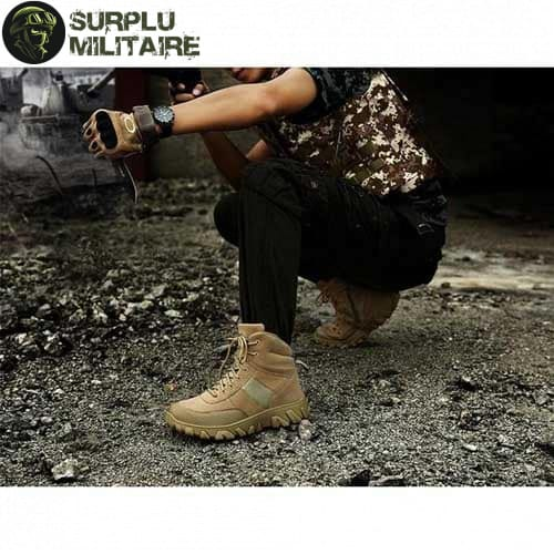 chaussures militaires boots creme 47 acheter