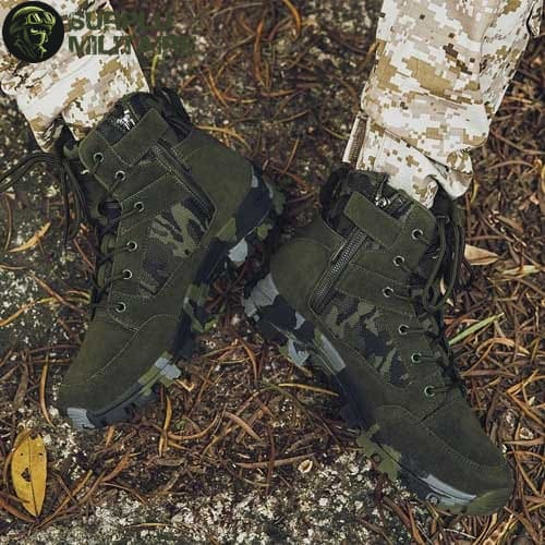 chaussures militaires boots green camo 46 surplu