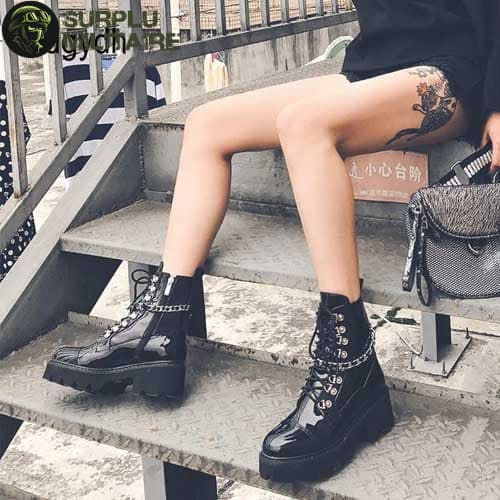 chaussures militaires girly boots gothiques 40 surplu