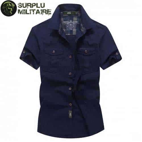 chemise militaire homme jeep vert armee