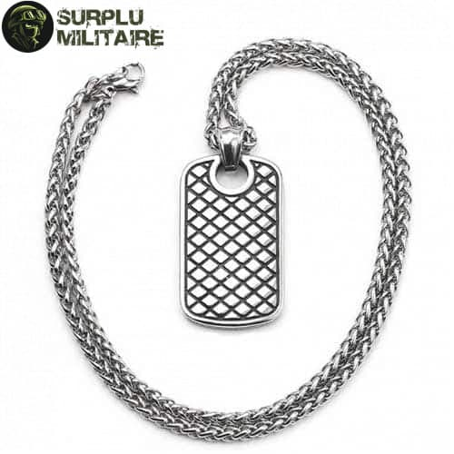 collier militaire plaque girly 1